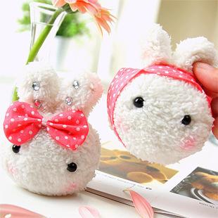 1pc 10cm Lovely Couple Rabbit Korean Mobile Phone Pendant Strap Bag Cute Rice & Vegetable Roll Doll Soft Plush Toys For Children(China (Mainland))