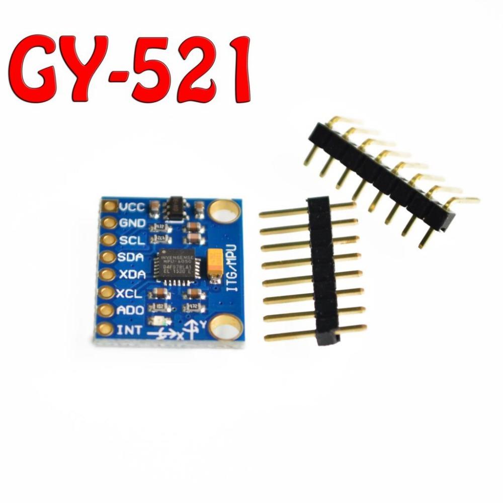 Free Shipping GY-521 MPU-6050 MPU6050 Module 3 Axis analog gyro sensors+ 3 Axis Accelerometer Module.We are the manufacturer(China (Mainland))