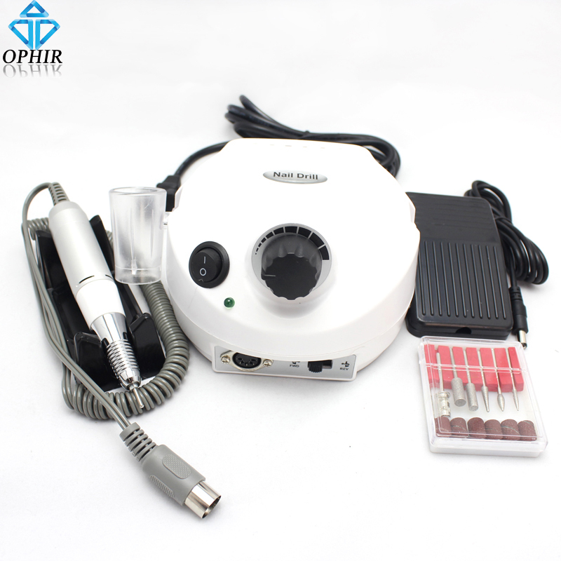 OPHIR Professional White 30,000Rpm Electric Acrylic Nail Drill File/Bits Set Manicure Kit 220V EU Plug#KD172(220V)<br><br>Aliexpress