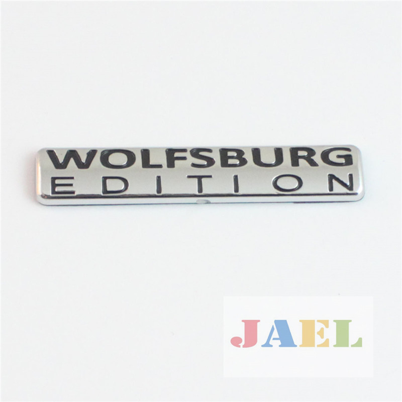 Car VW Golf 3D Chrome WOLFSBURG EDITION Emblem Decal Badge Sticker(China (Mainland))