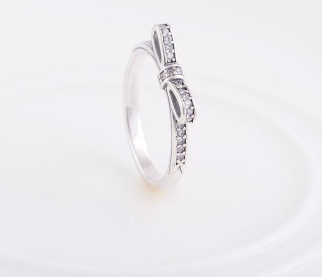 Чистый 925-Sterling-Silver CZ камни боути кольцо новые матч ес марка ювелирные изделия DIY выводы