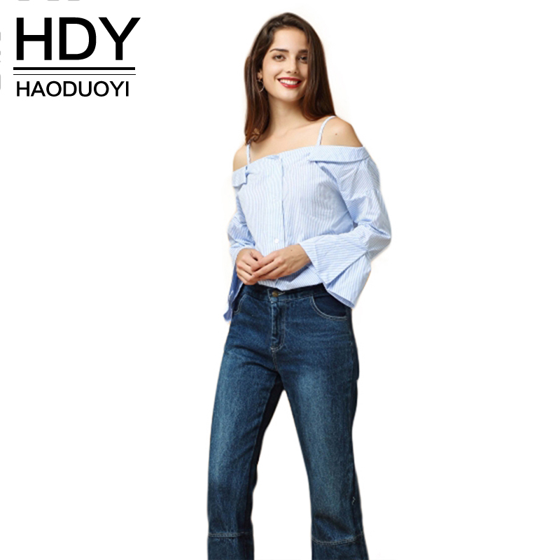 Buy haoduoyi womens sexy off shoulder for Where to buy womens button up shirts