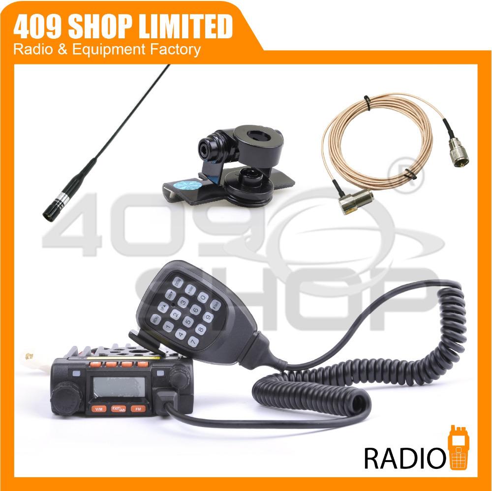 Бесплатная доставка мини мобильный трансивер QYT KT8900 20 Вт двухдиапазонный мини Moblie радио + антенна гора + расширение кабель