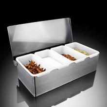 Large Cruet Set Salt Pepper Condiment Seasoning Box Container Spice Containers Commercial Use(China (Mainland))