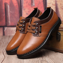 2016 New High Quality Genuine Leather Men Brogues Shoes Lace-Up Bullock Business Dress Men Oxfords Shoes Male Formal Shoes