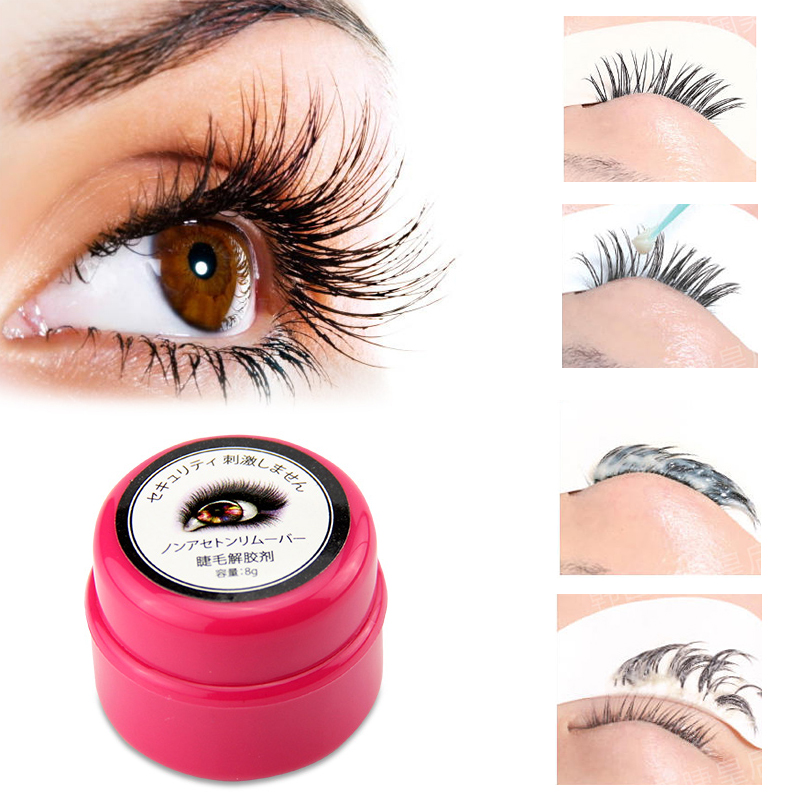 1PC maquiagens profissional Makeup Remove Eyelash Extension Gel Remover Individual Fake Lashes Eye Makeup Eyelash Remove Gel
