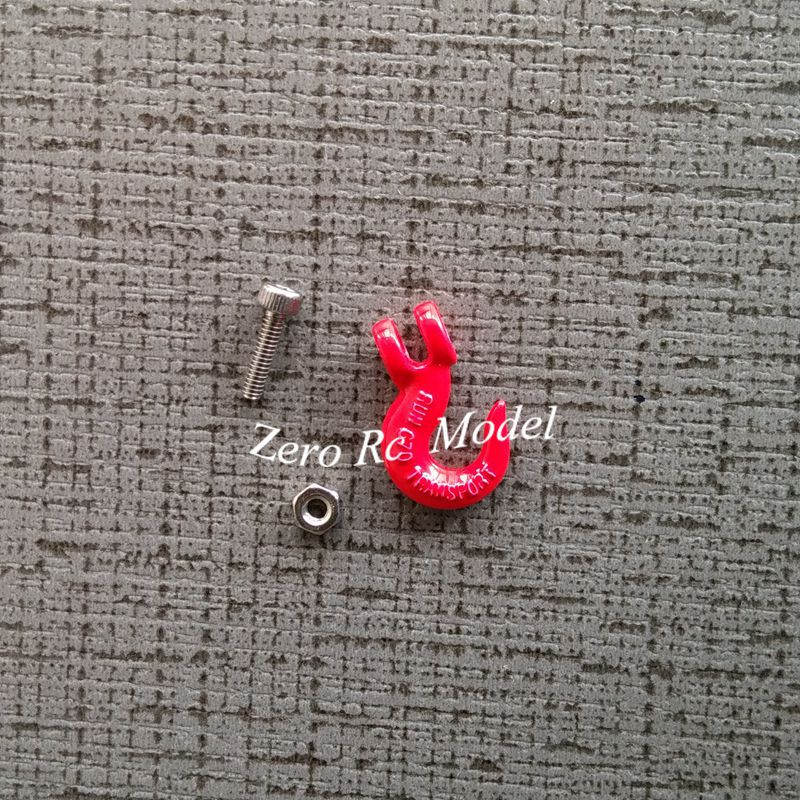 1/10 RC Car Red Small Metal Hooks for Simulation RC Crawler(China (Mainland))