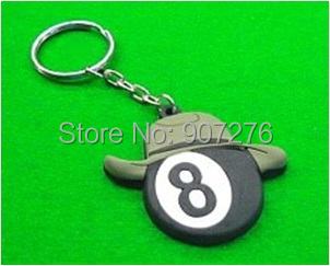 New # 8 billiard ball gift, number 8 rubber pool ball Souvenir accessory(China (Mainland))
