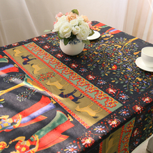 Vintage Linen Lace Tablecloths Painting Table Cloth Microwave Cover Nappe manteles para mesa rectangulares Top Home Decoration(China (Mainland))