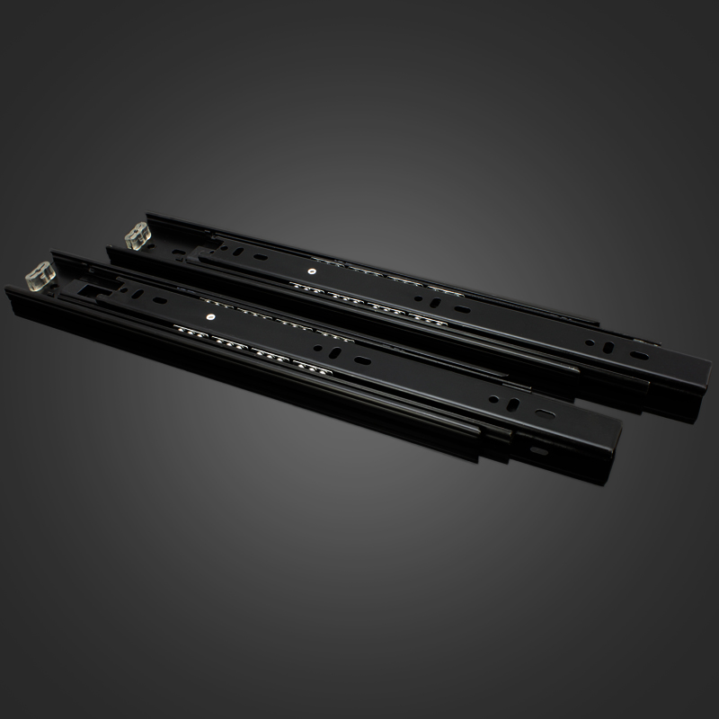 New special bottom side mounted slide rail drawer three thick steel ball slide rail D4512A(China (Mainland))