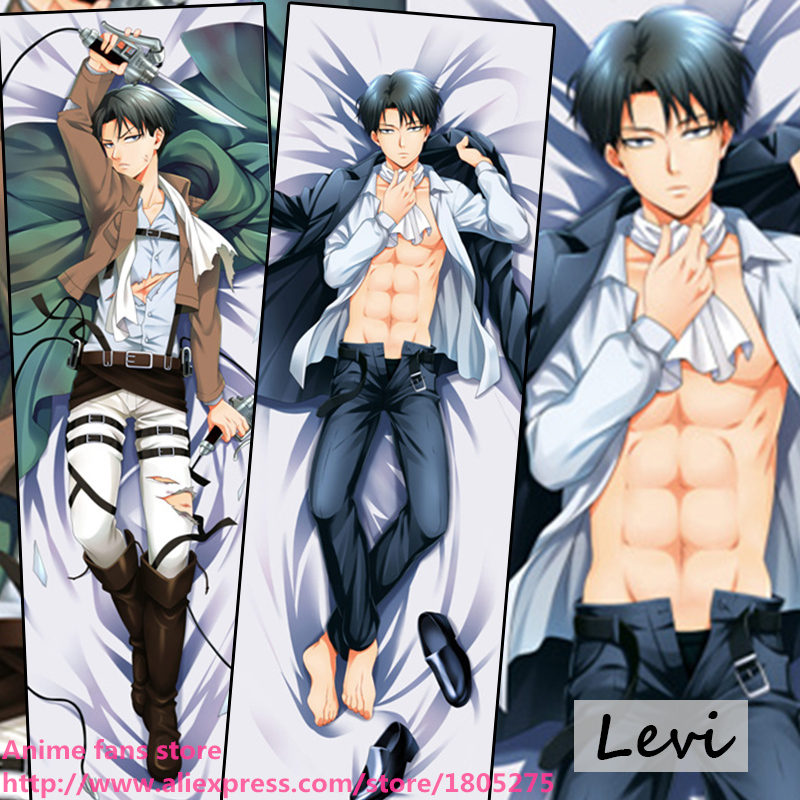 COOL Japanese Anime Pillowcase Shingeki Kyojin Levi Rivaille fujoshi BL decorative Hugging Body Pillow Case Cover Bedding - fans store