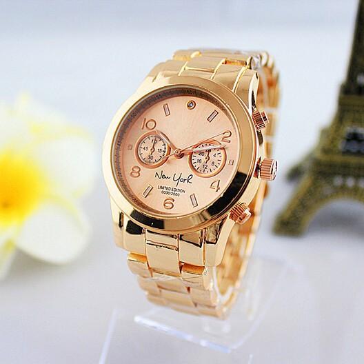 Гаджет  New Luxury Brand atmos clock Kors Gold rhinestone women
