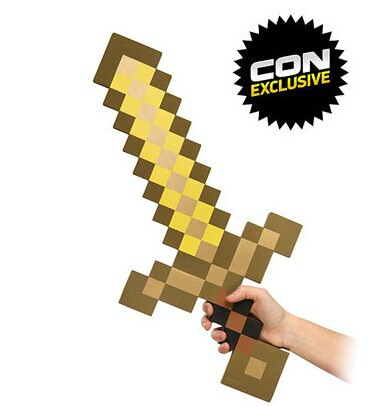 New Design 1pcs Toy Sword Outdoor Game Minecraft Diamond Sword Foam Mosaic Gold Pickaxe Toys For Children(China (Mainland))