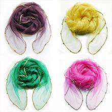 New Design Thin Solid Fashion Shawl And Scarf For Women Shawl Silk Scarf Beach Scarf Bufanda echarpe Freer Shipping (China (Mainland))