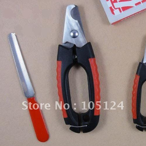 high-quality pet grooming nail toe claw clippers dog scissors cat trimmer profession Cutter +File set 2 sizes