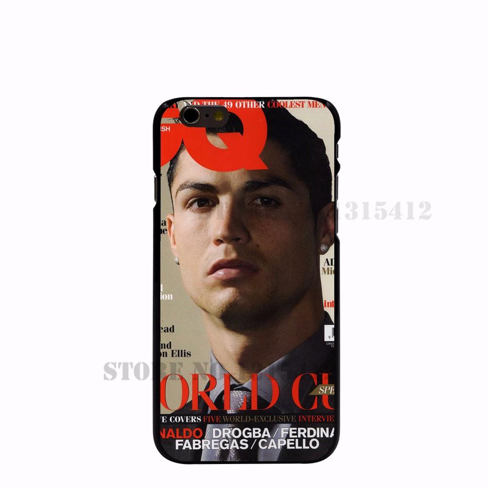 11255 cristiano ronaldo magazine Hard black Cover cell phone Case for iPhone 4 4S 5 5S SE 5C 6 6S Plus 6SPlus
