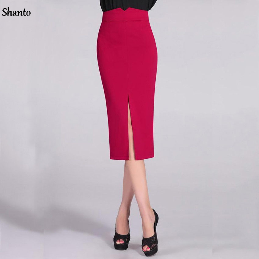 Long Black Pencil Skirt Promotion-Shop for Promotional Long Black ...