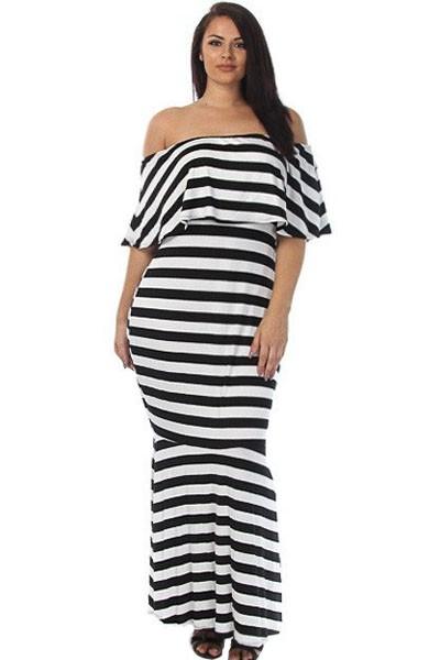 Striped-Ruffle-Tube-Plus-Size-Maxi-Dress-LC61311-19-2