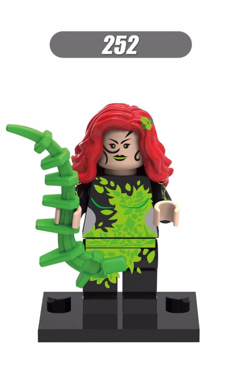 Baby toys50pcs XINH 252 Poison Super heros Ivy Minifigures Building Blocks Superhero Models Figures Legoland Toys(China (Mainland))