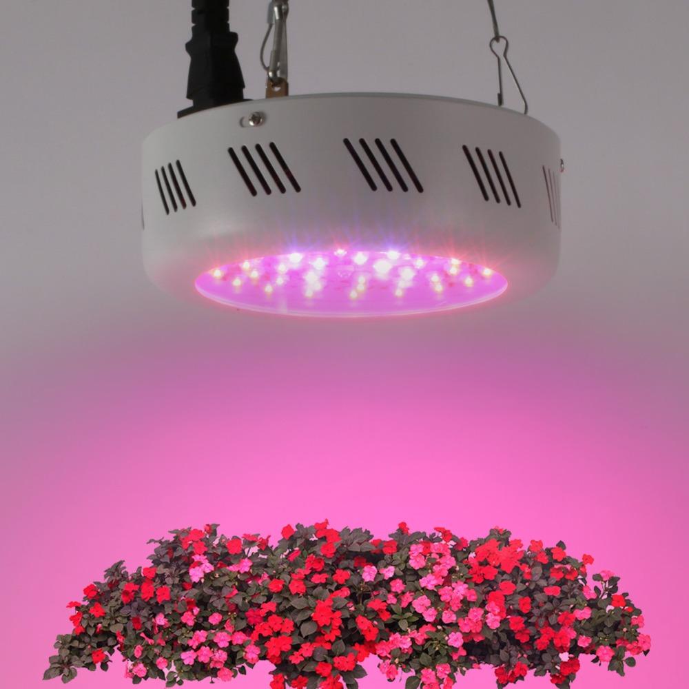 Hot sale 138W UFO led grow lights 46X3w full spectrum light for hydroponics greenhouse plants grow tent/box US/DE/CA/AU stock(China (Mainland))