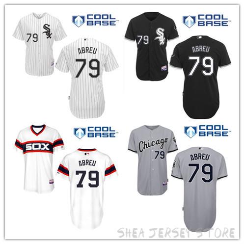 Chicago White Sox Jose Abreu Jersey,#79 WhiteSox Baseball Jersey White Blue Blank Cool Base Stitched Jersey Free shipping<br><br>Aliexpress