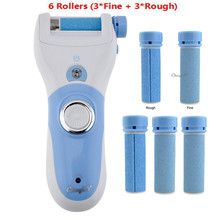 Hot Rechargeable Foot Care Tool + 6 Roller Electric Pedicure Peeling Dead Skin Removal Feet Care Machine Personal Care For Feet(China (Mainland))
