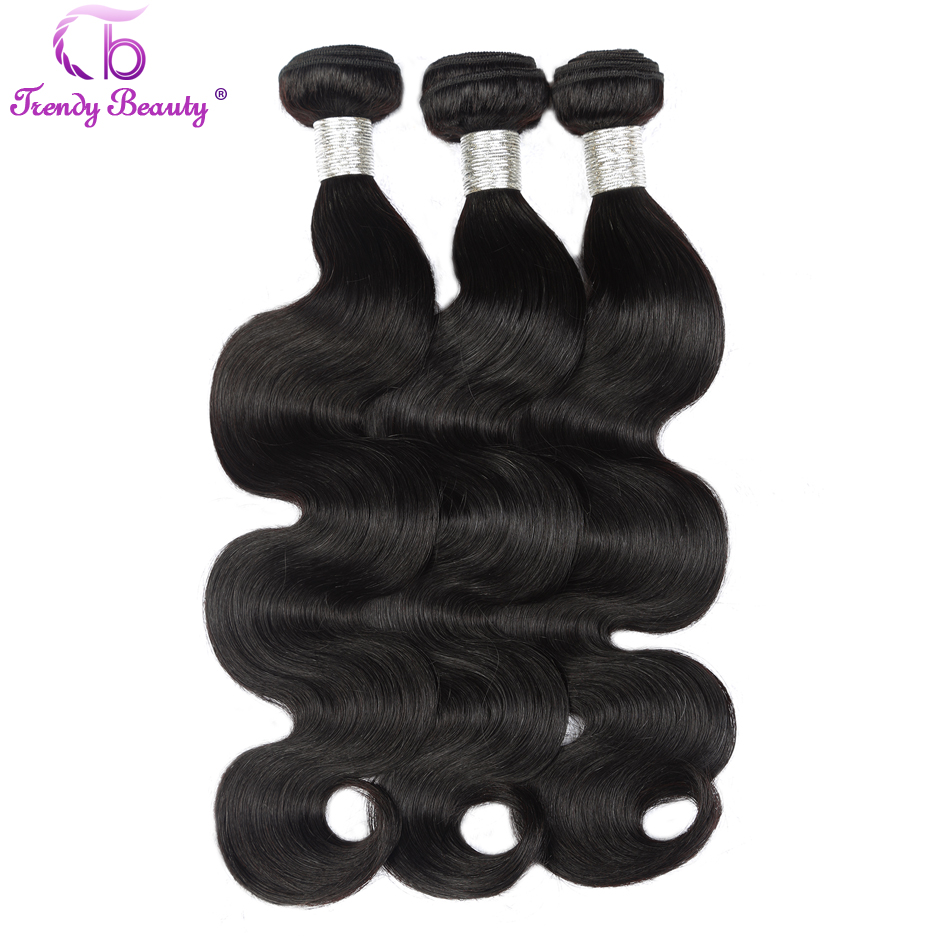 Trendy Beauty Hair Unprocessed Brazilian Virgin Hair Body Wave Human Hair Weave Bundle 8-26 inch natural black Free Shipping(China (Mainland))