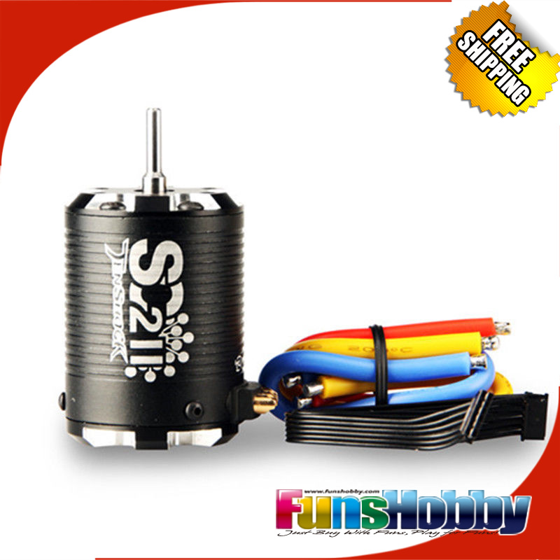 Tenshock SC211 4 Pole Sensor Brushless Motor for 2WD 1/10 Scale Short Course NEW Associated 7030 SC10 HPI Blitz Traxxas Slash XL(China (Mainland))