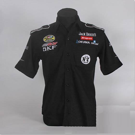 Черный белый embroidereid MOTO GP мотоцикл рубашка для Jack daniel майка f1