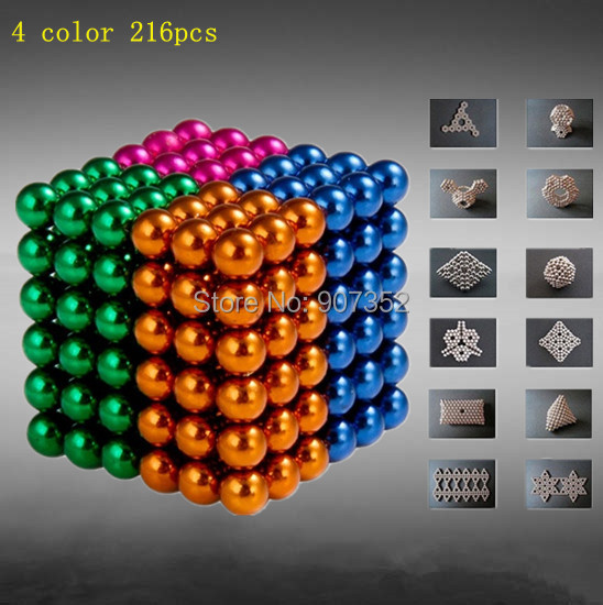 Buckyballs Neocube 5mm Neo Cube Magic Cube Puzzle Magnet Magnetic Balls Education Toy(China (Mainland))
