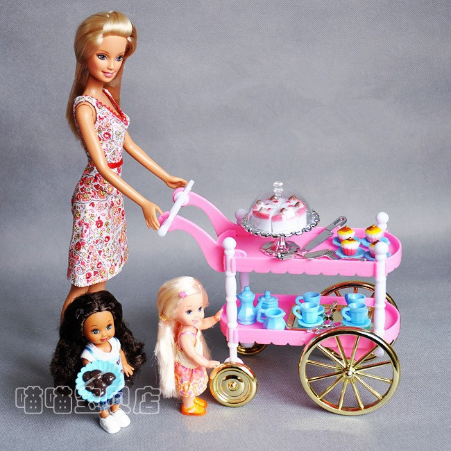 Free transport,Sizzling-Promoting Youngsters Play Toys Women Birthday Present Cake Automotive Equipment For Barbie Doll,women Christmas reward