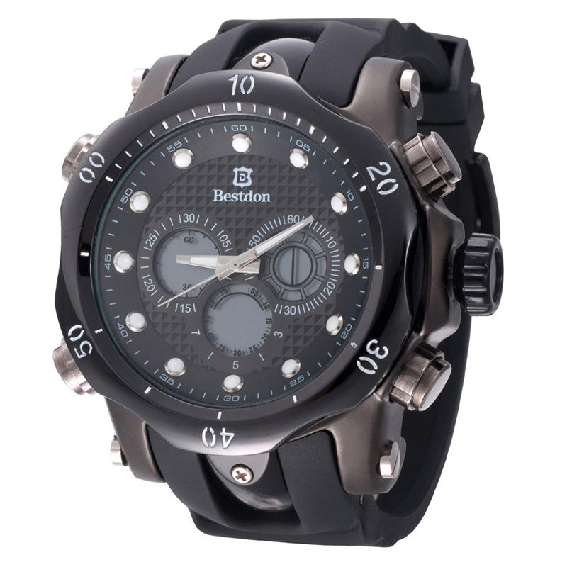 BESTDON BD5515G Fashionable suitable for various occasions to wear Men's Quartz & LED Electronics Dual Time Display Wrist Watch(China (Mainland))