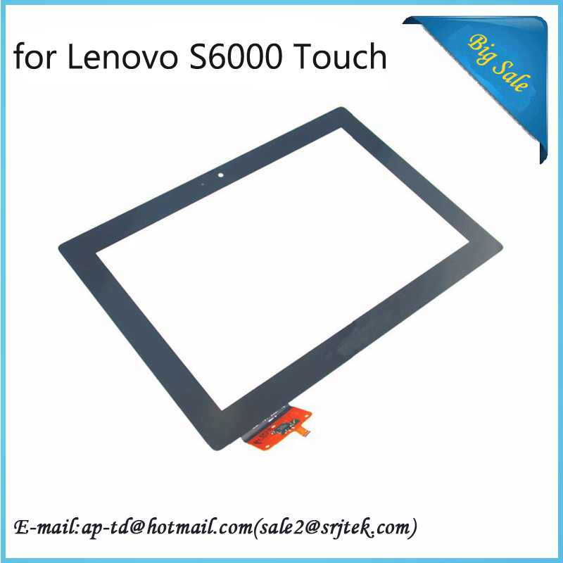 Original New 10.1''Black for Lenovo IdeaTab S6000 Touch Screen Digitizer Glass Touch Panel+tracking No(China (Mainland))