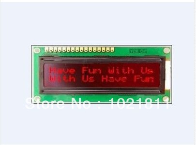 1602 LCD Module Red Characters Black Backlight HD44780(China (Mainland))