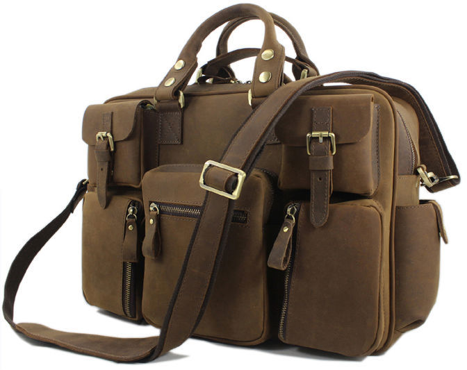 Vintage Crazy Horse Leather men's travel bags of trip Men Leather duffle bag men luggage travel bag Genuine Leather Bag Carry On(China (Mainland))