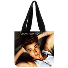 Cool Design!Justin Bieber Look At You Background Canvas Cotton Tote Bag For Girls(China (Mainland))