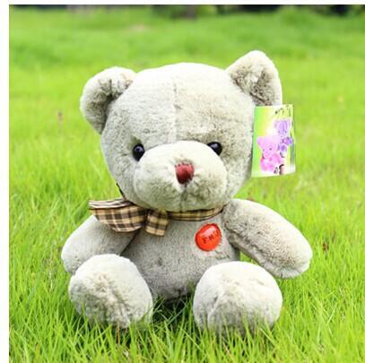 10 pieces cute plush teddy bear toys cute green teddy bear dolls gift doll about 27cm(China (Mainland))