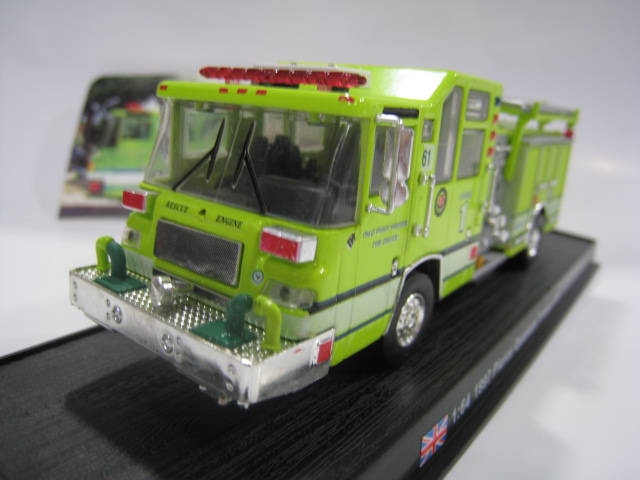 AMER COM 1/64 the British 1997 American Pearce quantum fire truck alloy fire truck model(China (Mainland))