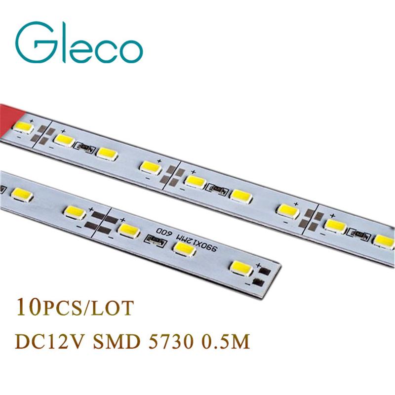 10pcs Super Bright DC12V LED Bar Light 5730 Hard Rigid Bar light SMD 5730 5630 50cm 36 led Aluminum Led Strip light For Cabinet(China (Mainland))