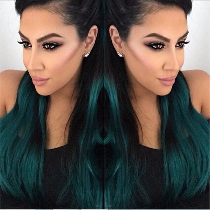 Buy Legend Wig Black Dark Green Turquoise Two Tone Ombre