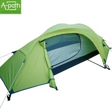 2015 1 person waterproof 5000mm tourist winter Double layer Outdoors camping tents travel single pole gear 1 room tent UV50+