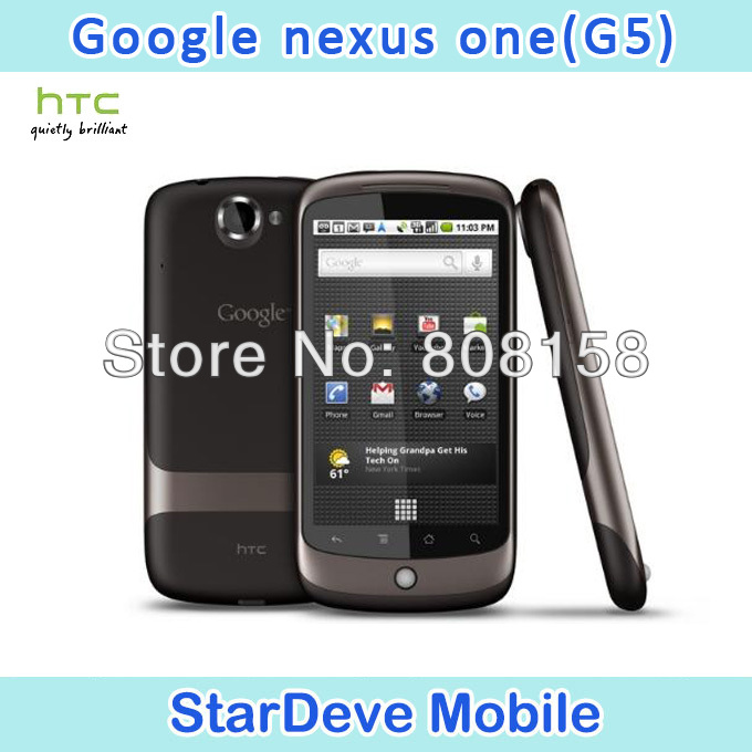 G5 Original HTC Google Nexus One G5 Android 3G 5MP GPS WIFI 3.7'' TouchScreen Unlocked Mobile Phone In Stock(China (Mainland))