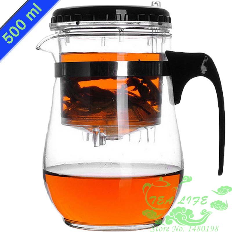 New 500ml Heat Resistant Glass Tea Set Tea Pot Puer Teapot Coffee Pot High quality Teaset