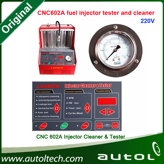 Original Launch X431 CNC602A Injector Cleaner & Tester 220V CNC-602A electromechanical machine-in stock(China (Mainland))