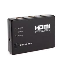 Mini 3 Port HDMI Switch Switcher HDMI Splitter Hub Box 1080P HDTV for PS3 Xbox 360 with IR Remote #70536(China (Mainland))