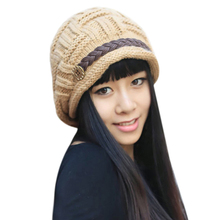 Fall Autumn Winter Beanies Knitted Hats Cap Ladies Female Fashion Skullies Elegant Women Hats 63(China (Mainland))