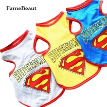 Buy FameBeaut Fashion Summer Breathable Cotton Superman Pattern Dog Clothes Sport Style Vest T-shirt Patterned Pet Clothing for $2.44 in AliExpress store
