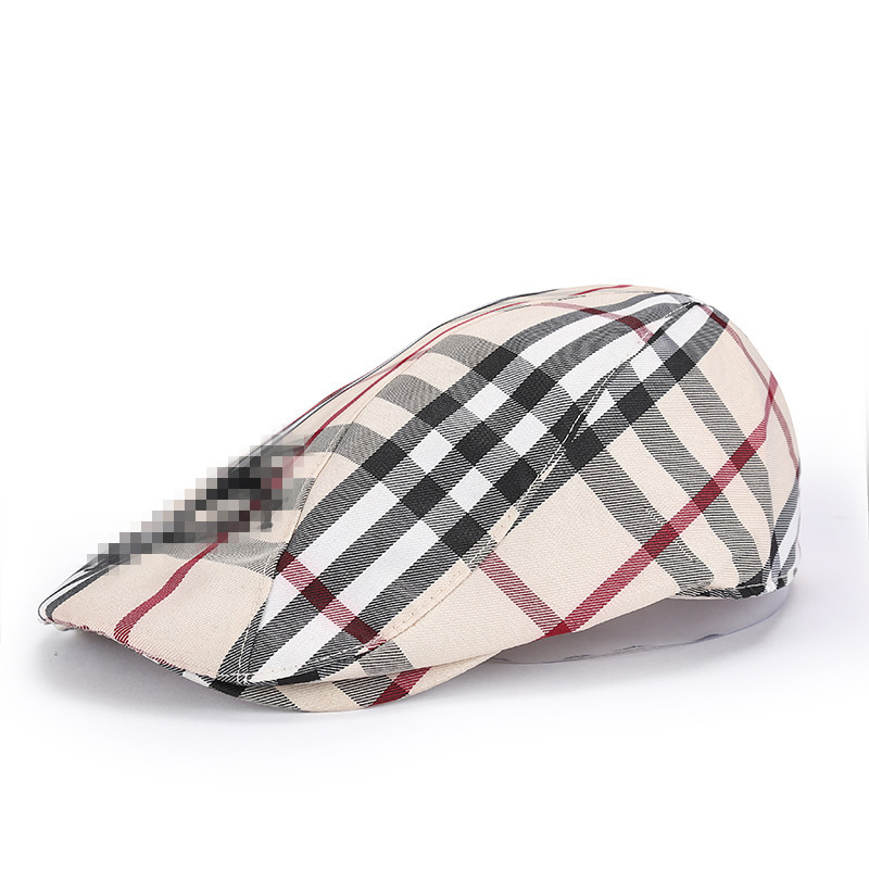 male Cap 2015 spring and summer Berets fashion hat for man trend beret Men large plaid
