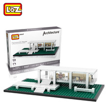 LOZ Famous Architecture Series Farnsworth House Model Mini Building Blocks Assembled Children Educational Toys Christmas Gifts(China (Mainland))