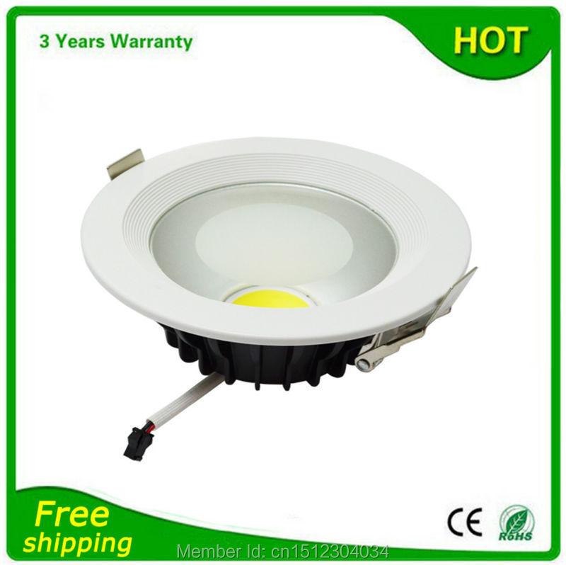 LED Down Light LED Downlight COB 7W 12W 15W 20W 30W 2PCS/Lot Thick Housing High Lumen Bridgelux Chip Free Shipping(China (Mainland))